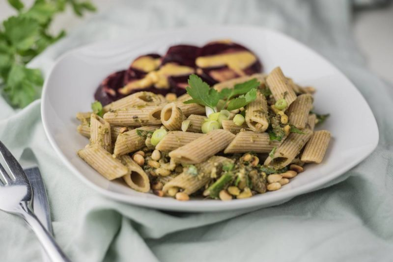 Penne auf rote Beete