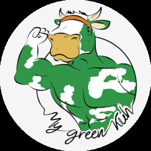 MyGreenKuh - Logo mit Hintergrund